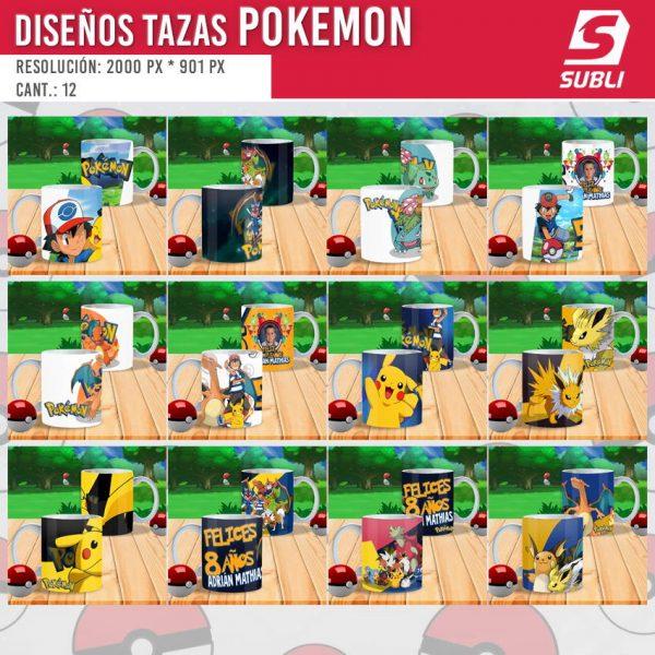 plantillas para sublimar tazas de pokemon mockup