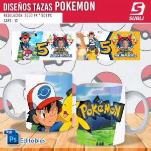 plantillas para sublimar tazas de pokemon