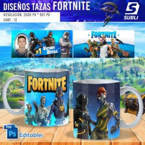 plantillas para sublimar tazas de fortnite