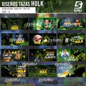 diseños plantillas para sublimar tazas de el increíble hulk
