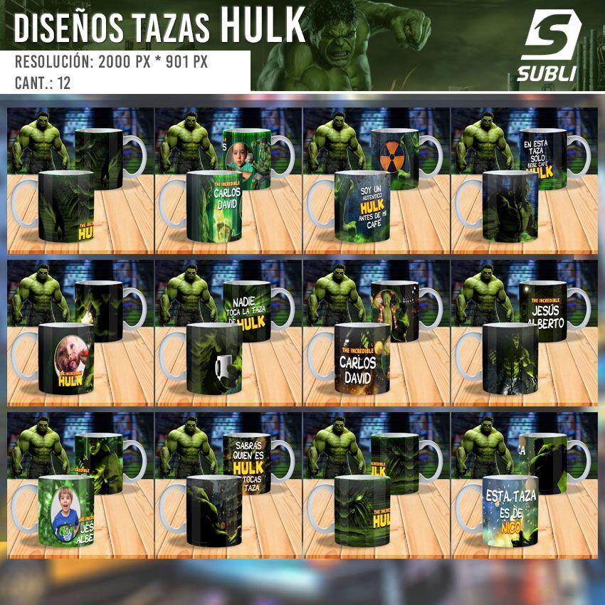 diseños plantillas para sublimar tazas de hulk