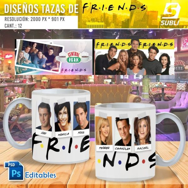 plantillas para sublimar tazas de friends