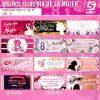 diseños plantillas para sublimar tazas del dia de la mujer