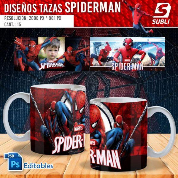 plantillas para sublimar tazas de spiderman