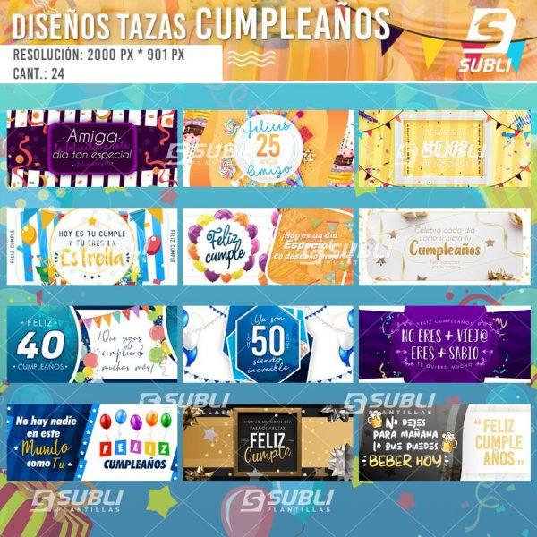 diseños plantillas para sublimar tazas feliz cumpleaños