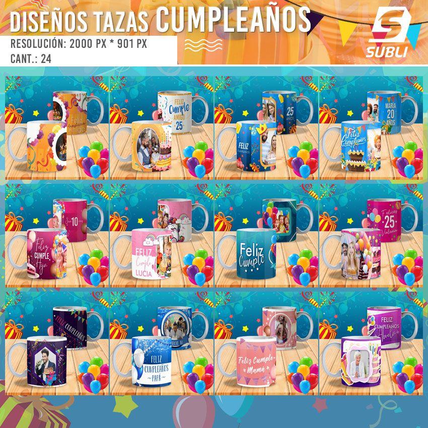 diseños plantillas para sublimar tazas de cumpleaños
