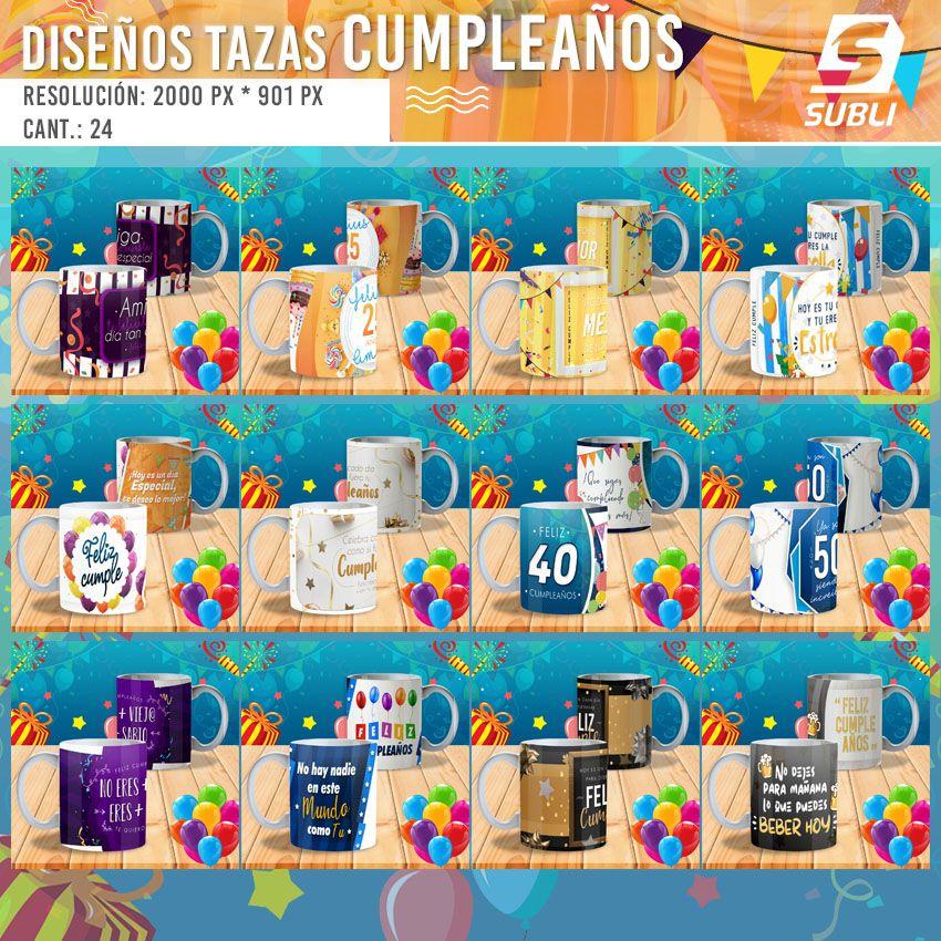 diseños plantillas para sublimar tazas de feliz cumpleaños