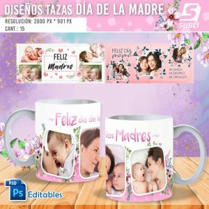 plantillas para sublimar tazas del dia de las madres