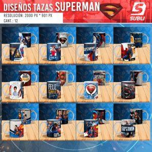 diseños plantillas para sublimar tazas de superman