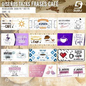 diseños para tazas frases de café