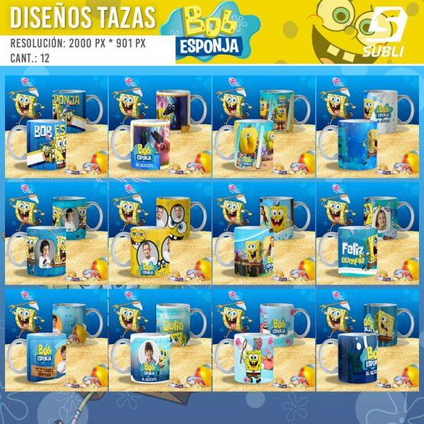 diseños plantillas para sublimar tazas de spongebob