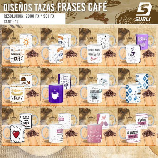 diseños plantillas para sublimar tazas amantes del café
