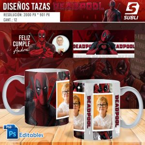 plantillas para sublimar tazas de deadpool