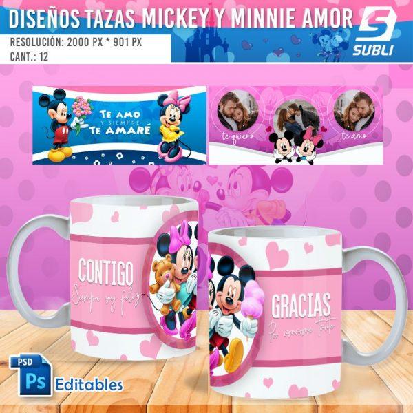 plantillas para sublimar tazas de amor mickey y minnie