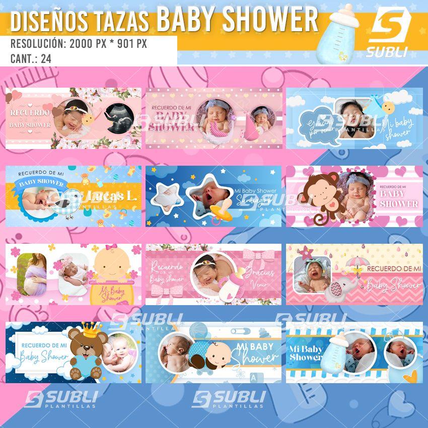 diseños para tazas de baby showers