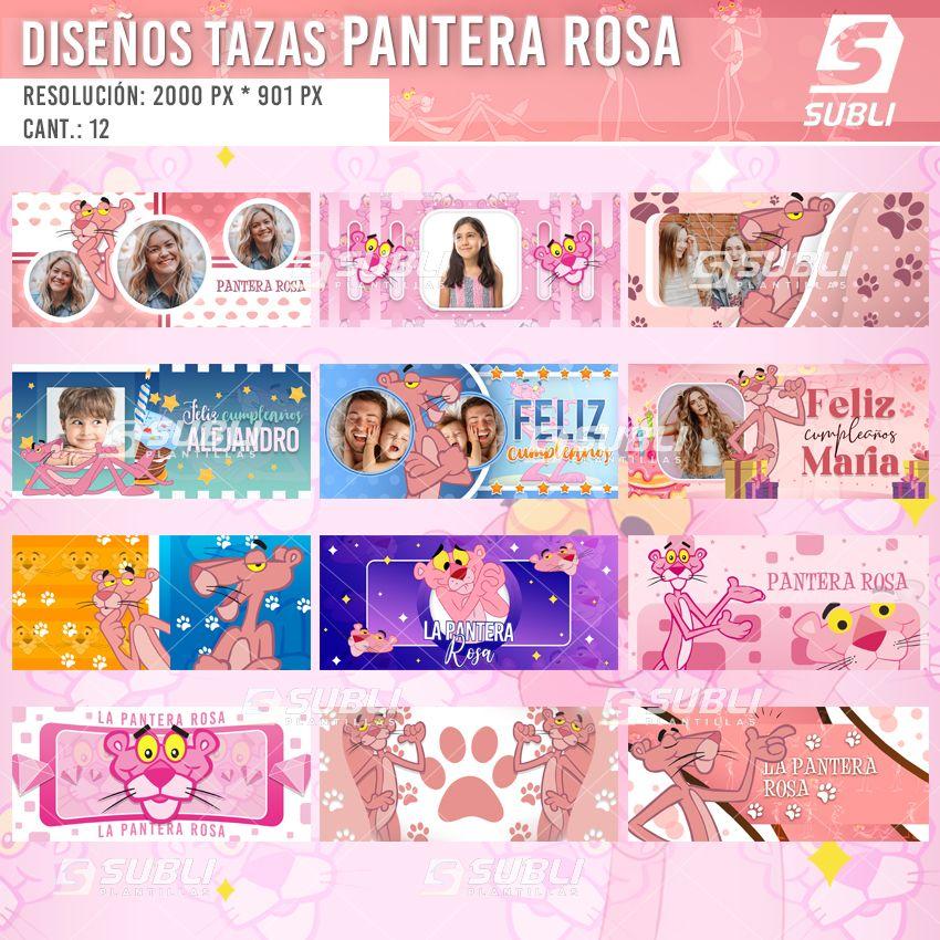 diseños para tazas de la pantera rosa