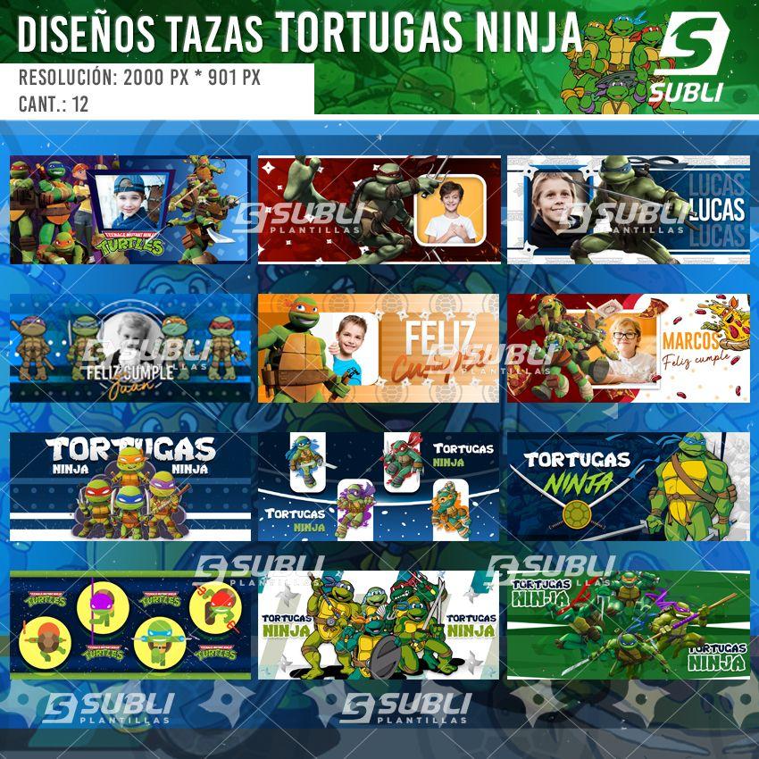 diseños para tazas de las tortugas ninja