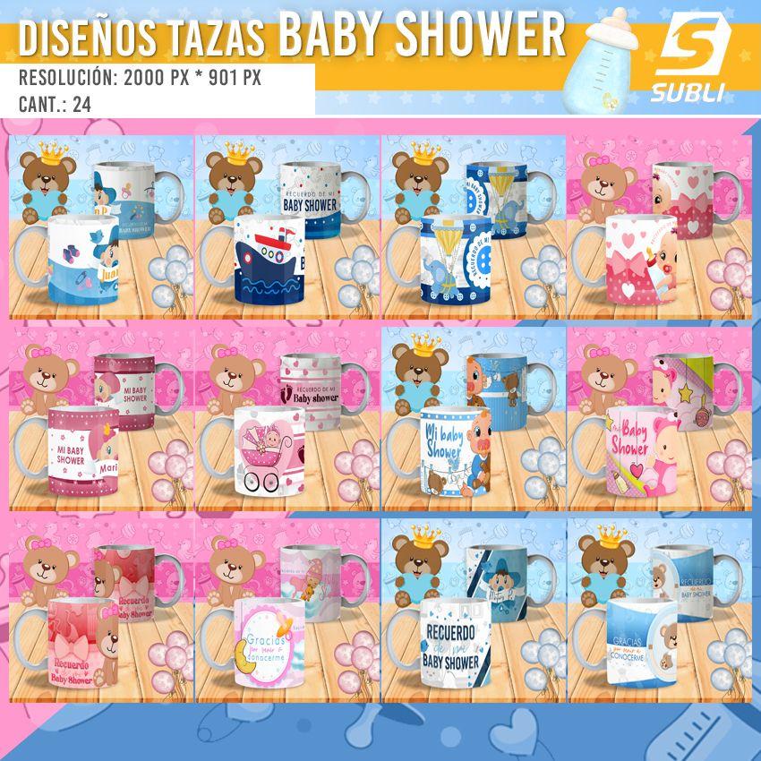 diseños plantillas para sublimar tazas de nacimientos