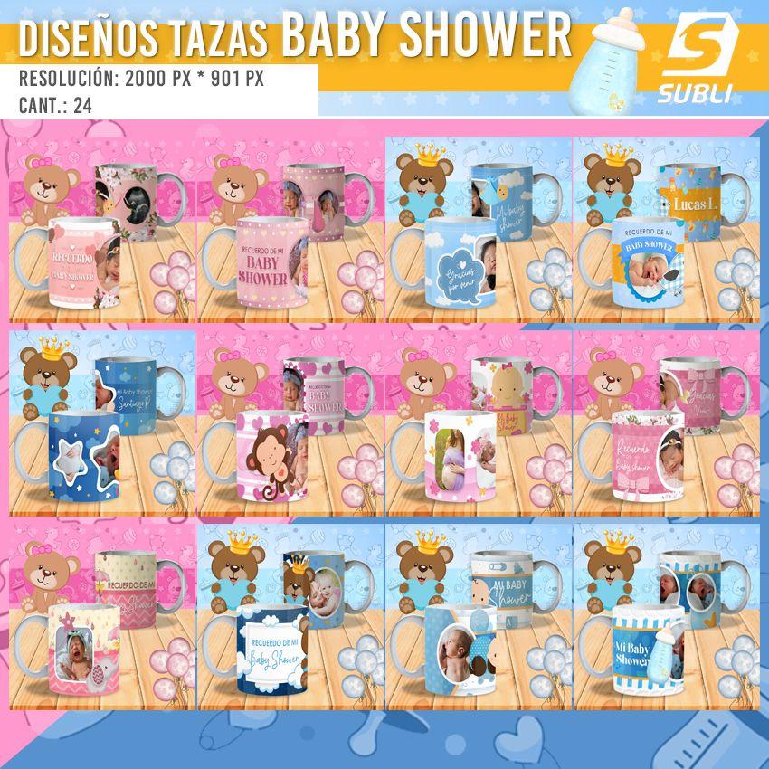 diseños plantillas para sublimar tazas de baby shower