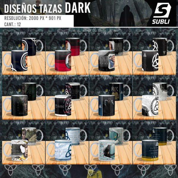 diseños plantillas para sublimar tazas de dark
