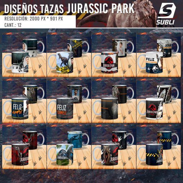 diseños plantillas para sublimar tazas jurassic park