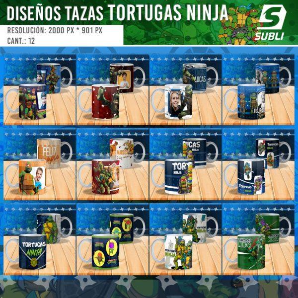 diseños plantillas para sublimar tazas ninja turtles