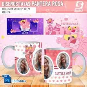 plantillas para sublimar tazas de pantera rosa