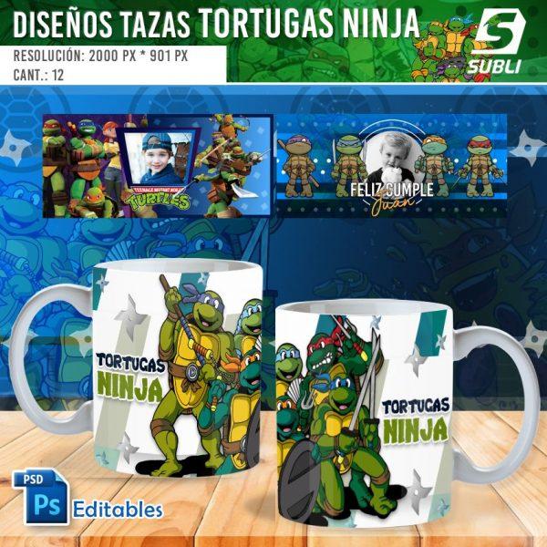 plantillas para sublimar tazas de las tortugas ninja