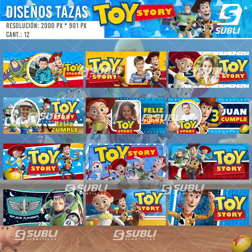 diseños para tazas toy story