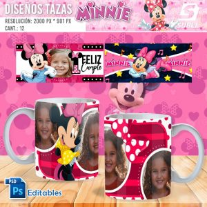 plantillas para sublimar tazas de guardianes de minnie
