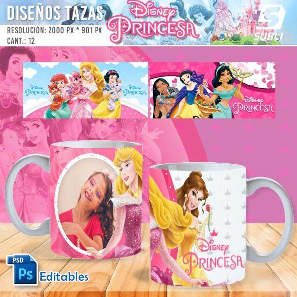 plantillas para sublimar tazas de guardianes de princesas de disney