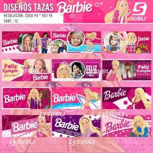 diseños para tazas de barbie