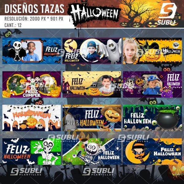 diseños para tazas de halloween