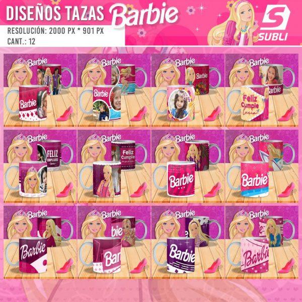diseños plantillas para sublimar tazas de barbie