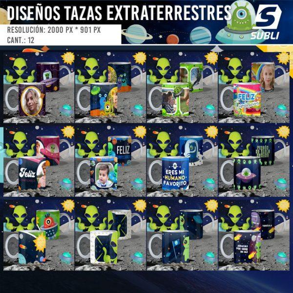 diseños para tazas de aliens