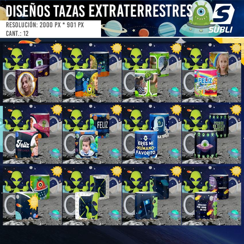 diseños para tazas de extraterrestres