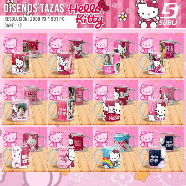 diseños plantillas para sublimar tazas de hello kitty