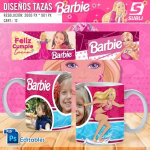 plantillas para sublimar tazas de barbie