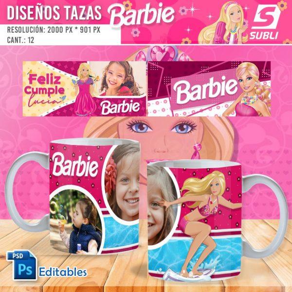 plantillas para sublimar tazas de barbie