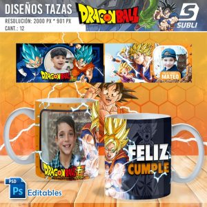 plantillas para sublimar tazas de dragon ball