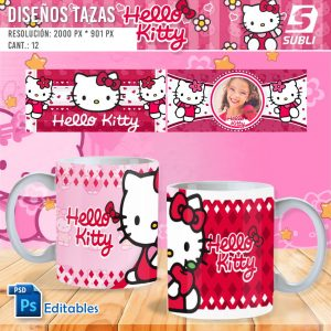 plantillas para sublimar tazas de hello kitty