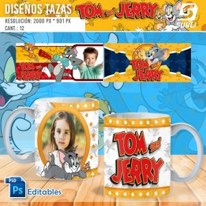 plantillas para sublimar tazas de tom y jerry