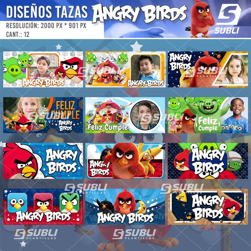 diseños para tazas de los angry birds
