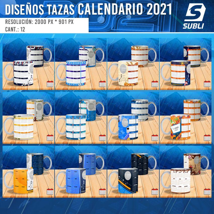 diseños para tazas calendario empresas 2021