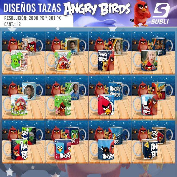diseños para tazas de angry birds