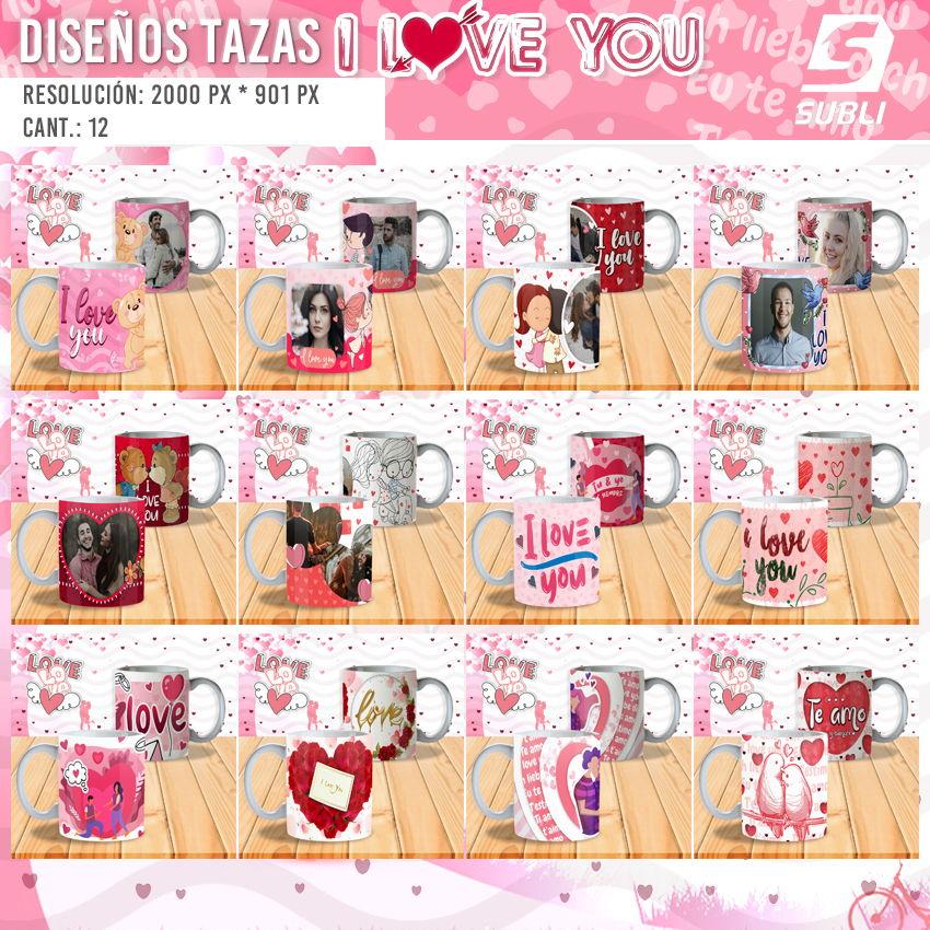 diseños para tazas de amor
