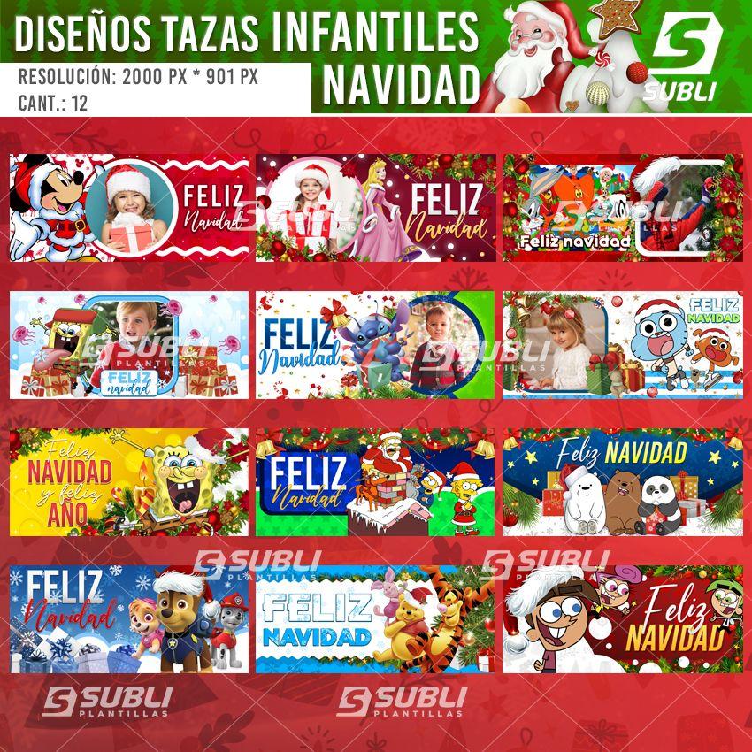 diseños para tazas navidad caricaturas
