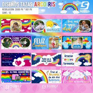diseños para tazas de arcoiris