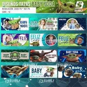 diseños para tazas de baby yoda
