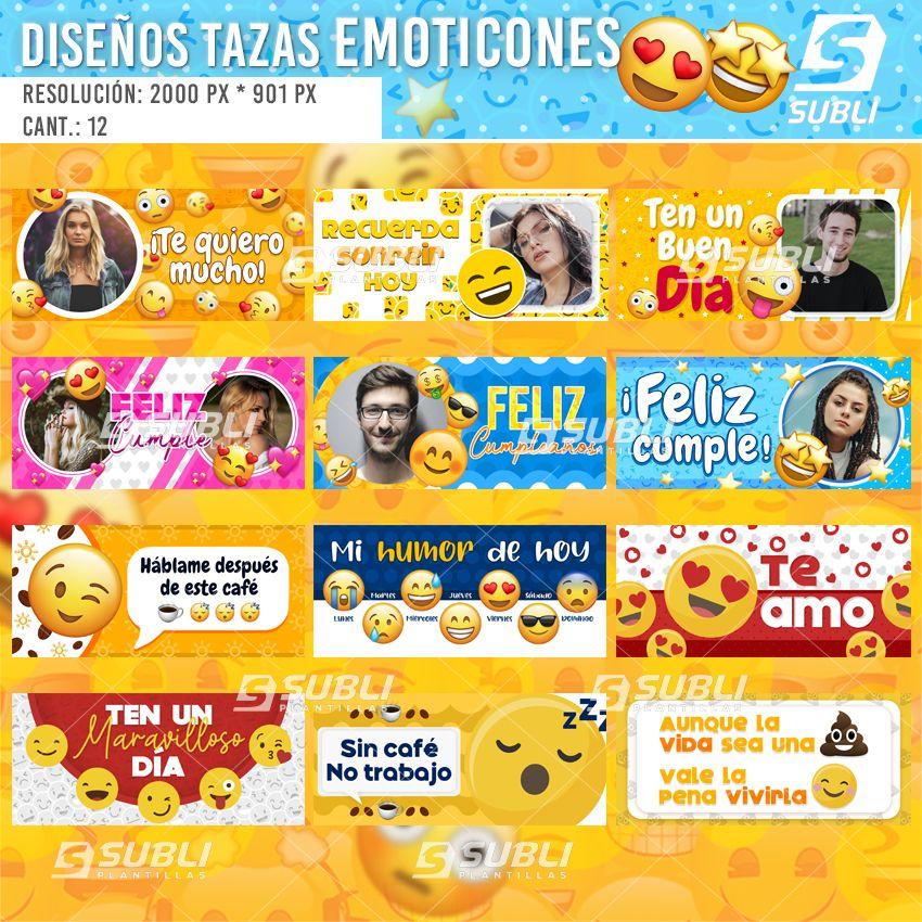 diseños para tazas de emoticones